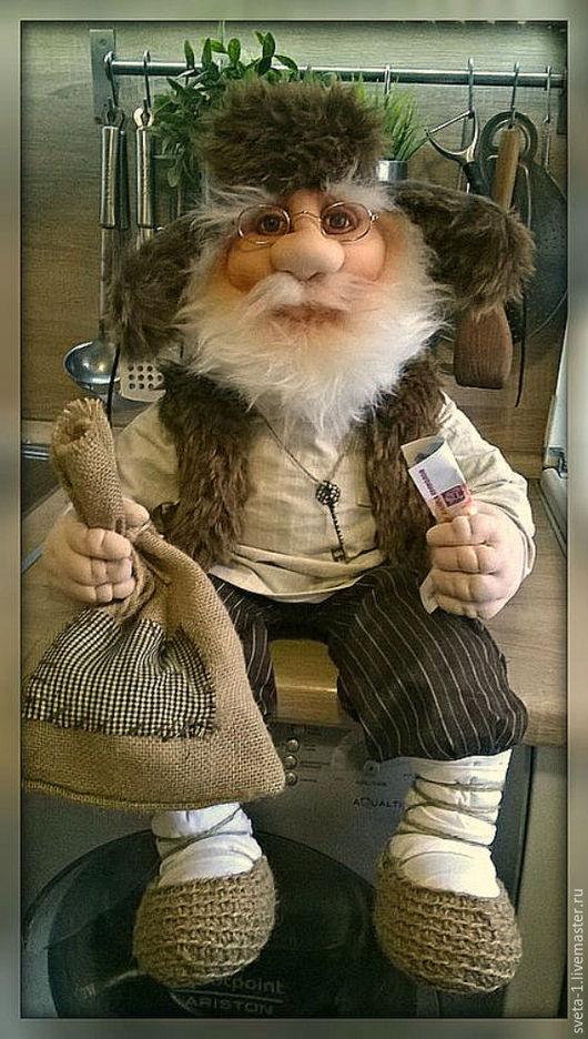Сказочные персонажи ручной работы. Ярмарка Мастеров - ручная работа. Купить домовой. Handmade. Коричневый, оберег для дома, интерьерная кукла