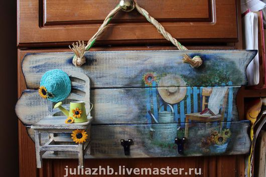 Entrance Hall handmade. Livemaster - handmade. Buy Blue chair, yellow sunflowers and lots of sunshine.Blue