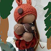 Гобелен ручной работы. Ярмарка Мастеров - ручная работа Интерьерная кукла белка. Handmade.