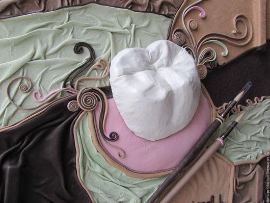 """Абстракция ручной работы. Ярмарка Мастеров - ручная работа. Купить Картина из кожи """"Искусство стоматологии"""". Handmade. Комбинированный, картина в подарок"""