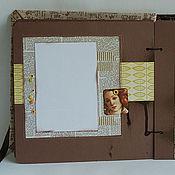 Канцелярские товары ручной работы. Ярмарка Мастеров - ручная работа Скрап-альбом для фотографий в коричневых тонах. Handmade.