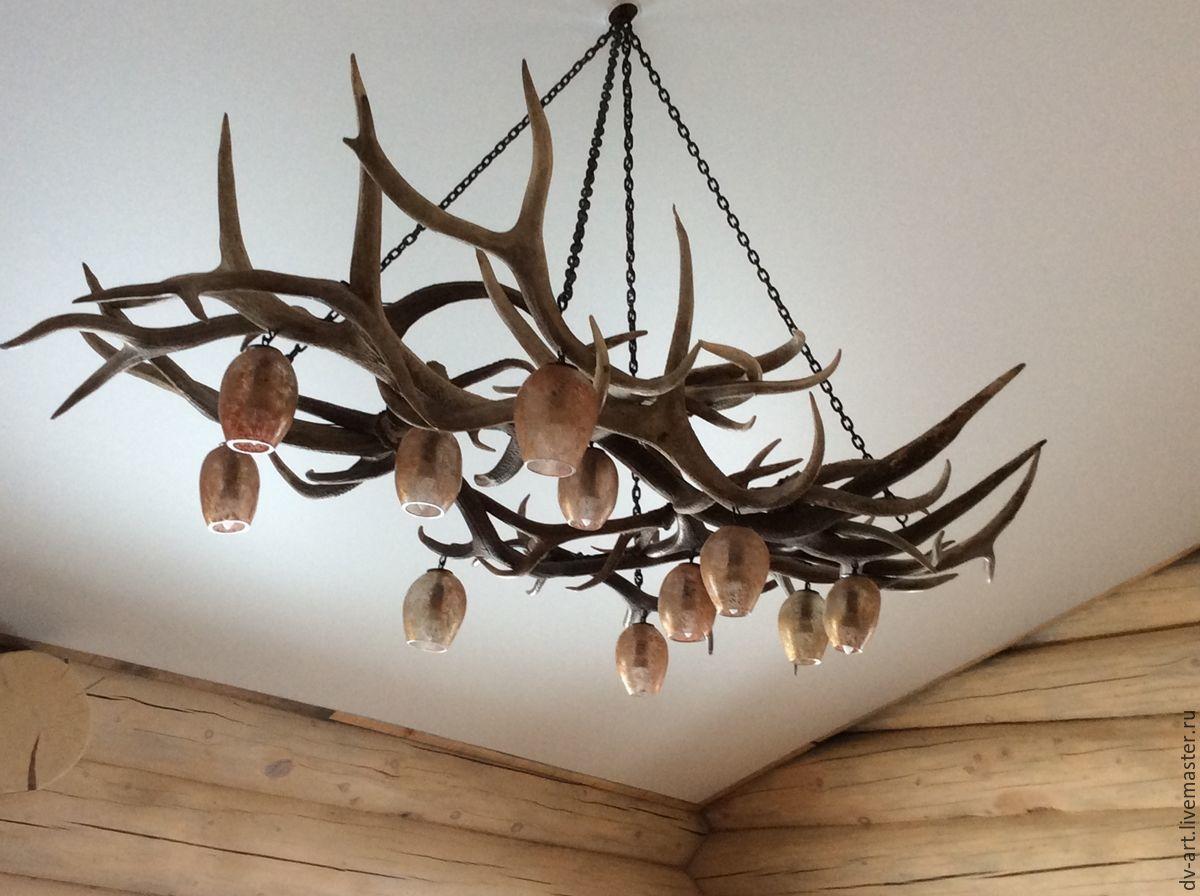 светильники из оленьих рогов фото ощущение, что
