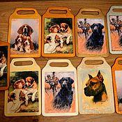 """Для домашних животных, ручной работы. Ярмарка Мастеров - ручная работа Досочки декоративные  """" Породы собак в ретро стиле"""". Handmade."""