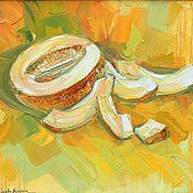 Картины и панно handmade. Livemaster - original item Oil painting Juicy melon. Handmade.