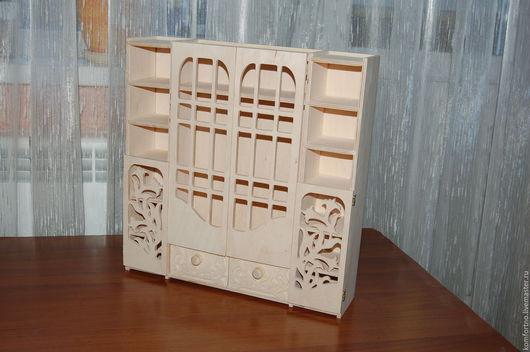 Кукольный шкафчик `Лилии` Заготовка для декупажа и росписи.