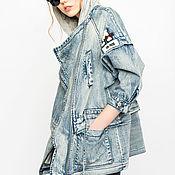 Парки ручной работы. Ярмарка Мастеров - ручная работа Джинсовая летняя парка, куртка, джинсовка. Handmade.