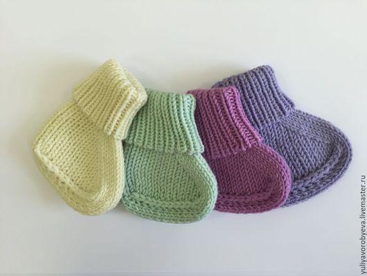 Для новорожденных, ручной работы. Ярмарка Мастеров - ручная работа. Купить Пинетки-носочки. Handmade. Белый, пинетки в подарок