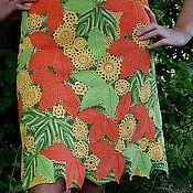 """Одежда ручной работы. Ярмарка Мастеров - ручная работа Вязаная юбка """"Дивная поляна"""". Handmade."""
