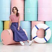 Одежда handmade. Livemaster - original item Linen skirt with pleats. Handmade.