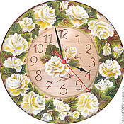 Для дома и интерьера handmade. Livemaster - original item Watch cedar Rose White rose. Handmade.