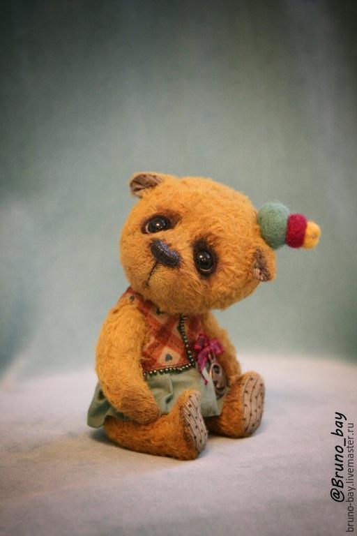 Мишки Тедди ручной работы. Ярмарка Мастеров - ручная работа. Купить Сима. Handmade. Желтый, тедди собака, вискоза 100%