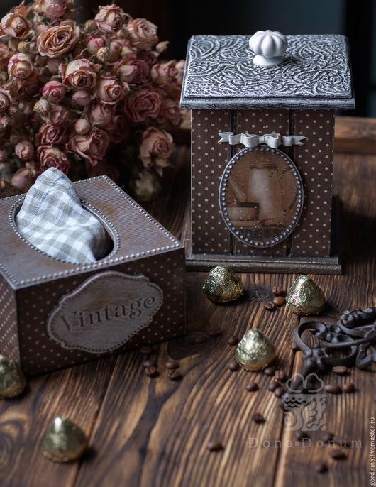 Кухня ручной работы. Ярмарка Мастеров - ручная работа. Купить Шоколадный винтаж. Handmade. Коричневый, конфетница деревянная, шоколадный