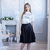 Одежда handmade. Livemaster - original item Blouse white,blouse office,blouse dressy