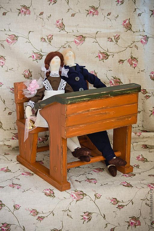 """Миниатюра ручной работы. Ярмарка Мастеров - ручная работа. Купить Парта школьная """"ретро"""".. Handmade. Школа, школьная одежда, Парта"""