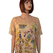 Одежда handmade. Livemaster - original item Tunic made of soft knitwear with lace