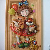 """Картины и панно ручной работы. Ярмарка Мастеров - ручная работа панно """"Маша ,медведь и еще куча всего"""". Handmade."""