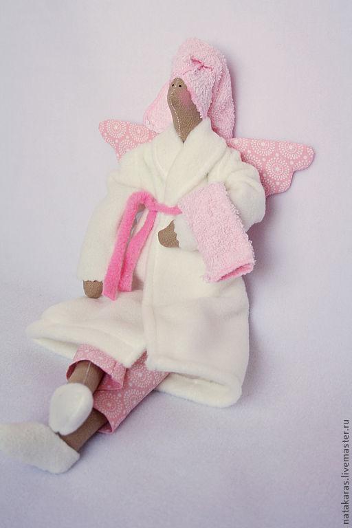 Куклы Тильды ручной работы. Ярмарка Мастеров - ручная работа. Купить Банный ангел. Handmade. Белый, тильда, синтепон