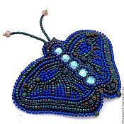 """Украшения ручной работы. Ярмарка Мастеров - ручная работа Брошь """" Бабочка в синем"""". Handmade."""