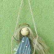 Куклы и игрушки ручной работы. Ярмарка Мастеров - ручная работа Ангел на качелях. Звезды развешивает на небе в нужном поря. Handmade.