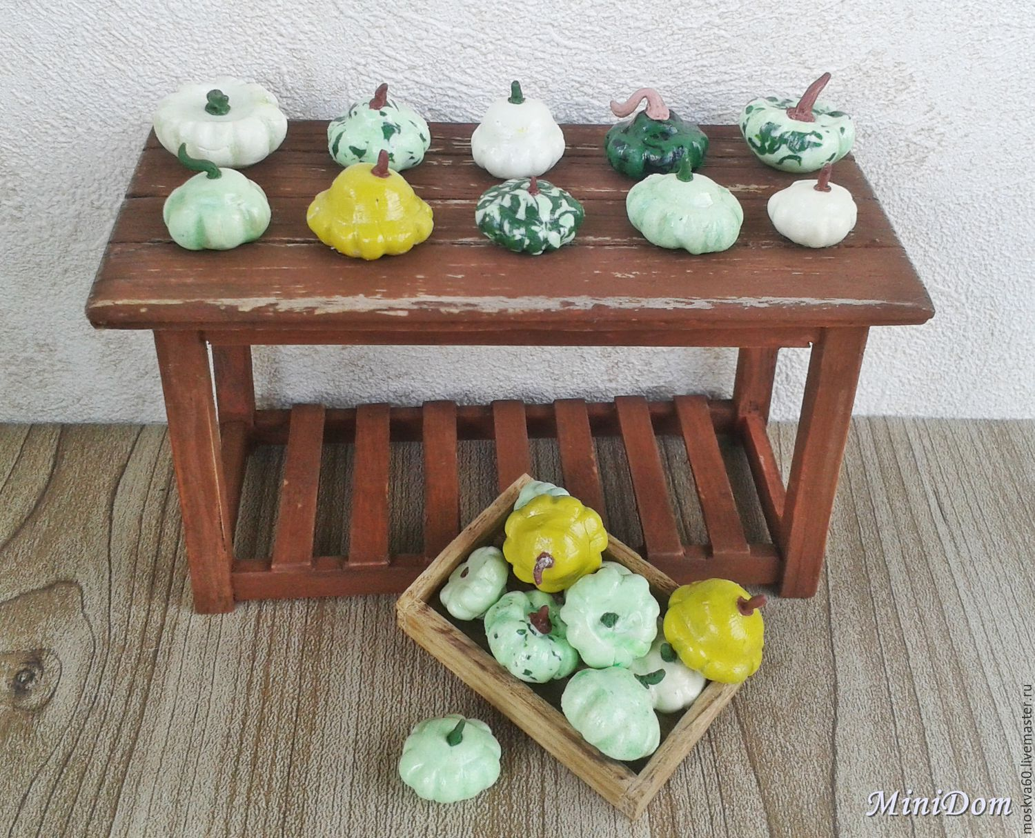Food for dolls - Vegetables squash for dollhouse miniature 1 12, Doll food, Moscow,  Фото №1