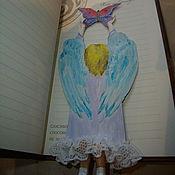 "Канцелярские товары ручной работы. Ярмарка Мастеров - ручная работа Закладка ""Ангел"". Handmade."