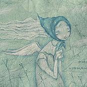 """Картины и панно ручной работы. Ярмарка Мастеров - ручная работа Ангел  """"...Я тебя прощаю..."""" Картина с ангелом.. Handmade."""