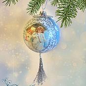 Подарки к праздникам ручной работы. Ярмарка Мастеров - ручная работа Шар елочный Зимняя прогулка. Handmade.