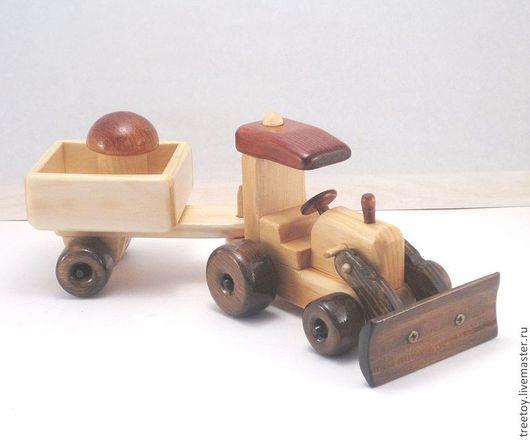 """Техника ручной работы. Ярмарка Мастеров - ручная работа. Купить Трактор """"Беларус"""" со скрепером и прицепом. Handmade. Детская игрушка"""