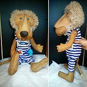 Куклы и игрушки ручной работы. Ярмарка Мастеров - ручная работа Лев Бонифаций голубоглазый блондин. Handmade.