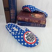 """Обувь ручной работы. Ярмарка Мастеров - ручная работа """"Зазвездившиеся""""тапочки.. Handmade."""