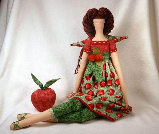 Куклы Тильды ручной работы. Ярмарка Мастеров - ручная работа. Купить Тильда Яблочный ангел. Handmade. Тильда, яблоки