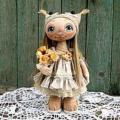 Куколка с сумочкой в пастельных тонах. 2550 р