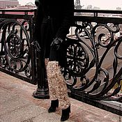 Аксессуары handmade. Livemaster - original item Women`s warm leg warmers knitted art No. 03ж.Of dog hair.. Handmade.