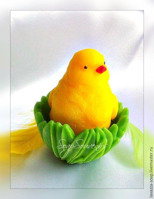Мыло ручной работы. Ярмарка Мастеров - ручная работа. Купить Мыло Цыпленок в травке. Handmade. Желтый, пасхальный подарок, яйцо