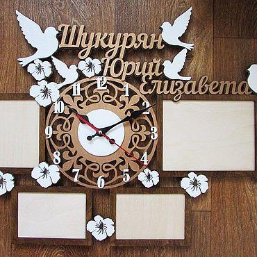 Сувениры и подарки ручной работы. Ярмарка Мастеров - ручная работа Фоторамка с часами. Handmade.