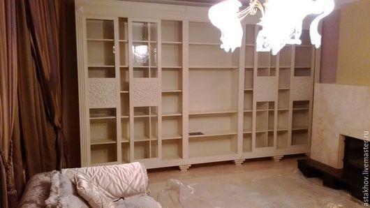шкаф библиотека, шкаф для книг из дерева