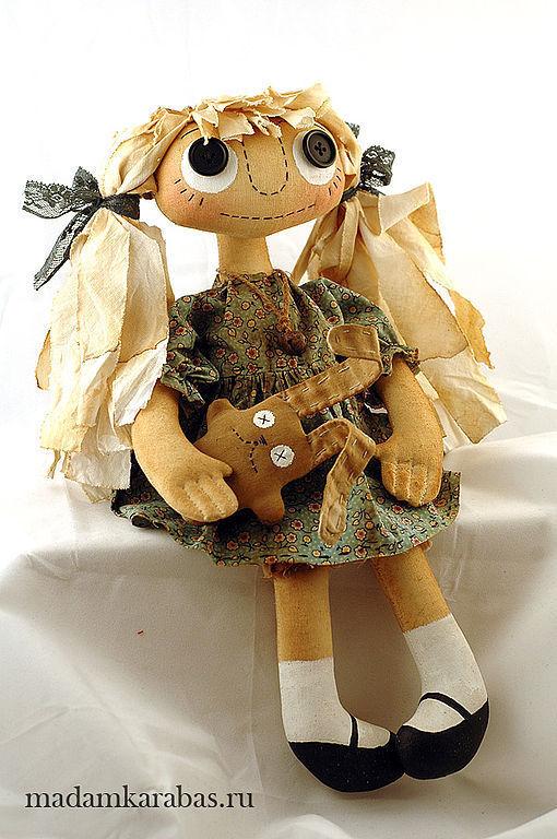 Ароматизированные куклы ручной работы. Ярмарка Мастеров - ручная работа. Купить Текстильная кукла Сима. и кофейный заяц. Handmade.