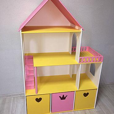 Куклы и игрушки ручной работы. Ярмарка Мастеров - ручная работа Дом для кукол с тремя ящиками. Handmade.