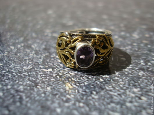 """Кольца ручной работы. Ярмарка Мастеров - ручная работа. Купить Кольцо """"Аметис"""".. Handmade. Кольцо ручной работы, кольцо в подарок"""