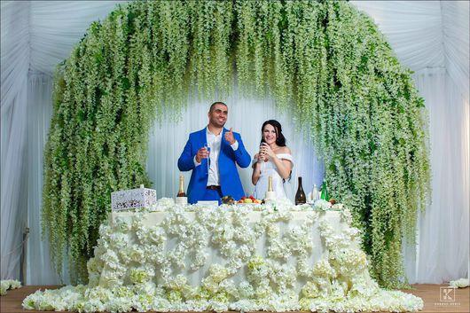 Свадебные цветы ручной работы. Ярмарка Мастеров - ручная работа. Купить Свадебная арка. Handmade. Свадьба, свадебный декор, металл