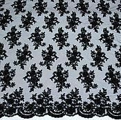 Материалы для творчества ручной работы. Ярмарка Мастеров - ручная работа Вышивка на сетке с бисером - цвет черный. Handmade.