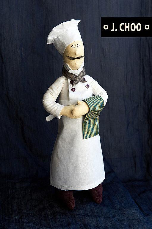Куклы Тильды ручной работы. Ярмарка Мастеров - ручная работа. Купить Поваренок. Handmade. Интерьерная игрушка, кухонный интерьер