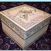 """Свадебный салон ручной работы. Ярмарка Мастеров - ручная работа Коробочка """"Свадебная"""" для денежного подарка. Handmade."""