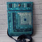 Поясная сумка ручной работы. Ярмарка Мастеров - ручная работа Сумка-карман, лакомник, сумка на пояс, русский стиль, Синий. Handmade.