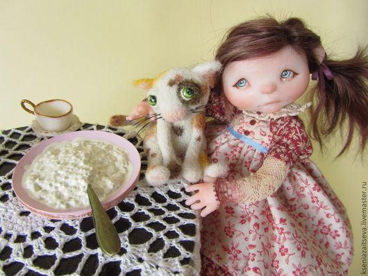 """Коллекционные куклы ручной работы. Ярмарка Мастеров - ручная работа. Купить """"Ася"""". Handmade. Коллекционная кукла, малышка, трикотаж"""