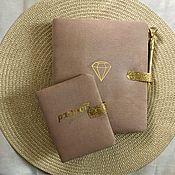Планеры ручной работы. Ярмарка Мастеров - ручная работа Планер ( блокнот) и обложка на паспорт. Handmade.