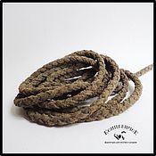 Материалы для творчества ручной работы. Ярмарка Мастеров - ручная работа Шнур 5мм замшевый плетеный серо-коричневый Нидерланды. Handmade.