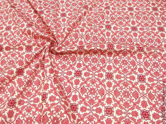Шитье ручной работы. Ярмарка Мастеров - ручная работа. Купить Новинка ! ткань хлопок сатин  стрейч костюмный красный. Handmade.