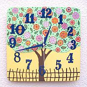 Часы ручной работы. Ярмарка Мастеров - ручная работа Часы настенные Дерево Сказка -  часы ручной работы, детские, в спальню. Handmade.