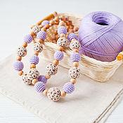 "Одежда handmade. Livemaster - original item Вязаные бусы ""Прованс"" (слингобусы). Handmade."